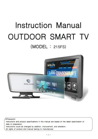 Instruction Manual OUTDOOR SMART TV (Korean) (English)  -