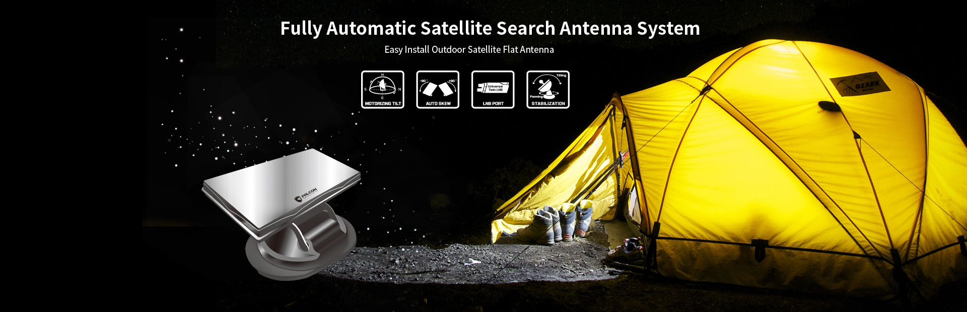 Fully Aytomatic Satellite Search Antenna System
