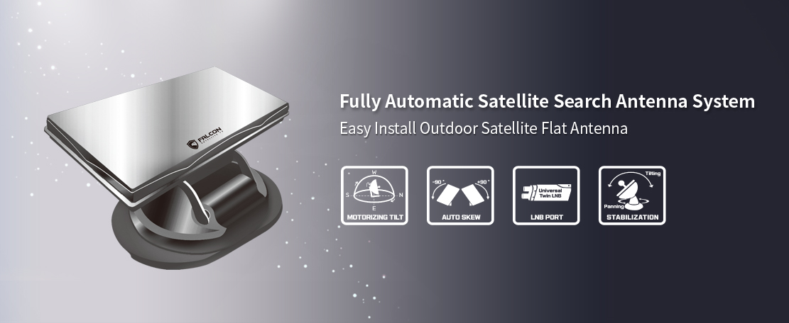 FALCON - Smart Digital TV Receiver Auto Tracking Satellite Antenna